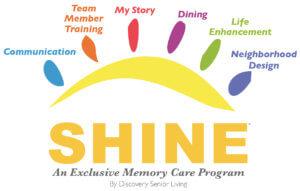 senior living memory care shine