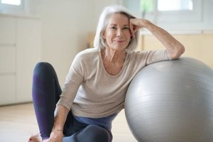 a woman is interested in active senior living