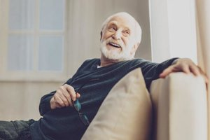 a man takes advantage of independent senior living